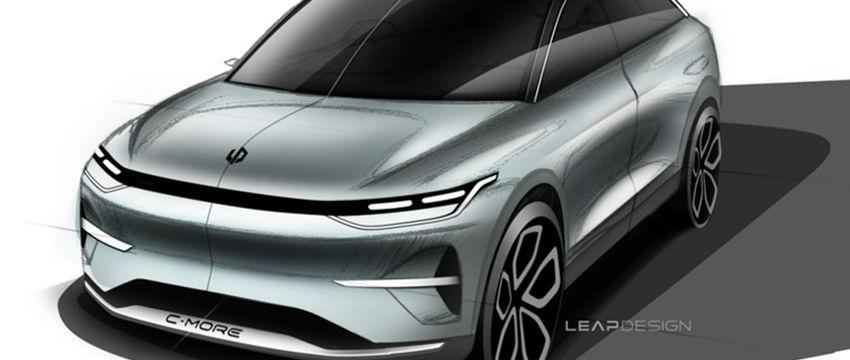 4月份上海車展亮相,零跑全新概念車設計草圖