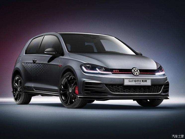 大众汽车官方发布了高尔夫gti tcr概念车的官图,这款车将会在2018年的